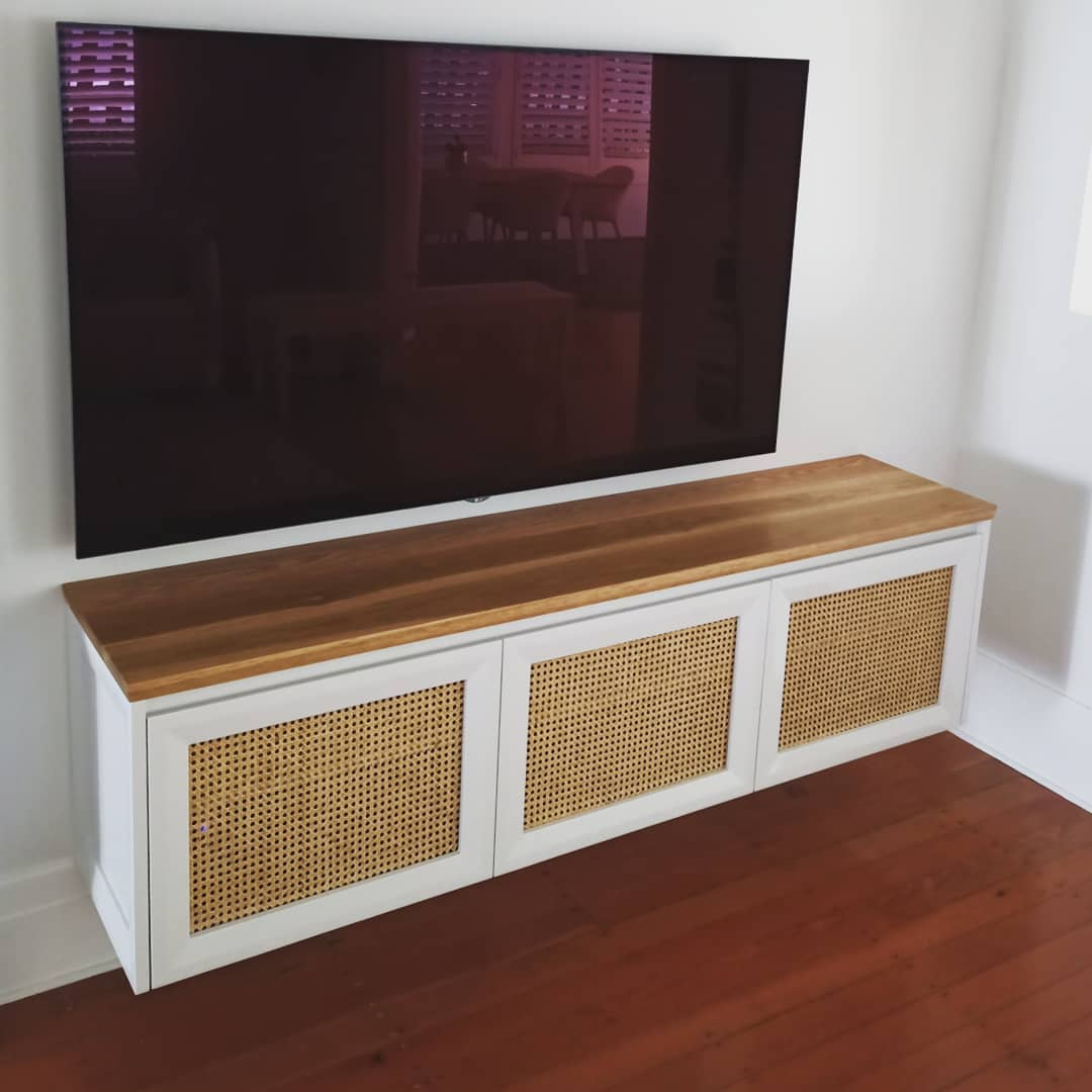 Wooden Entertainment unit with TV